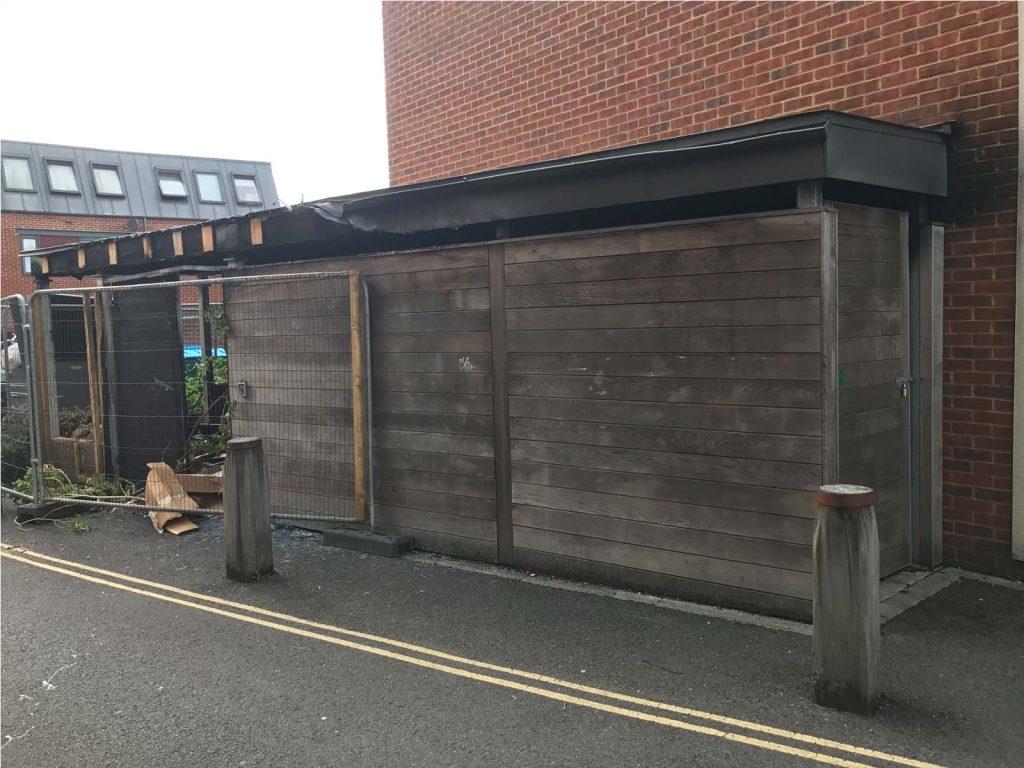 Radian Housing – Lumpy Lane, Southampton – Bin Store Fire Damage